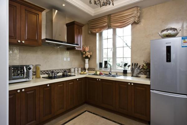 【成都实创装饰】独栋别墅—欧式风格 装修参考—整体家装—厨房装修效果图