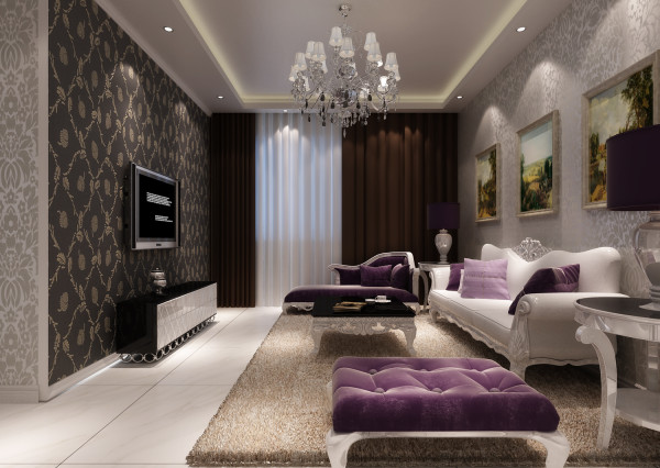 即有欧式设计风格的一些元素,又充分利用了现代简约设计的某些优势。简欧风格的室内设计打破以往欧式深沉的色彩,大量使用的白色调,把欧式风格设计融入现代设计中浑然一体家居风格。