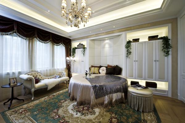 【成都实创装饰】独栋别墅—欧式风格 装修参考—整体家装—卧室装修效果图