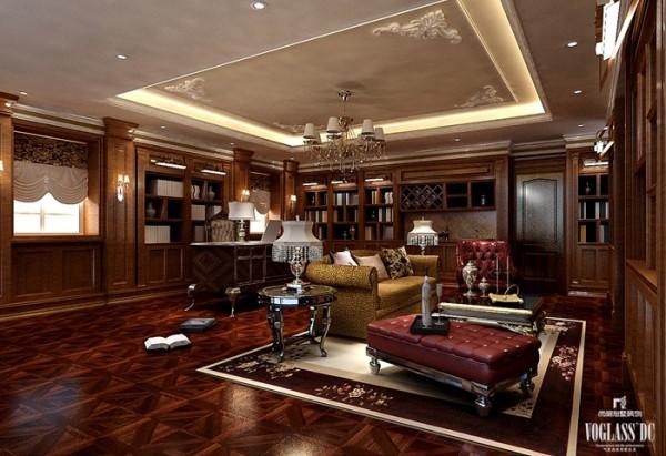 书房是沉静而简约的,整个别墅空间设计中,书房的设计是最简单的,没有繁复的雕花设计,也没有奢华的吊顶装饰,更没有昂贵的配饰搭配,四壁书架,一张书桌,一把椅子搭配简易沙发,就构成了这个空间的全部。