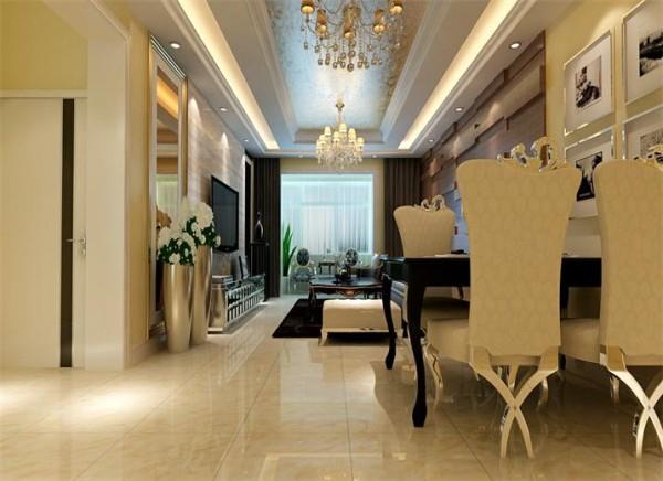 客厅针对客户对自己家的设想,还有客户自身的条件和要求,笨案例把客户的定位,地位在比较高端的档位,地面仿大理石的地砖,电视背景墙的大理石挂壁
