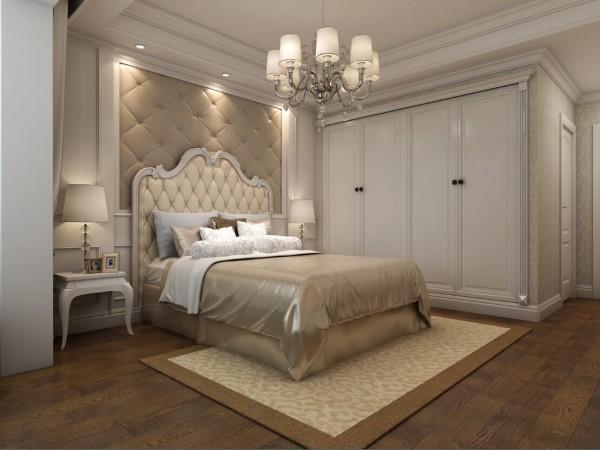 主卧以质朴淡雅的设计为主,搭配瑞士原装进口卢森环保地板,为业主营造一种温馨舒适健康的睡眠环境。