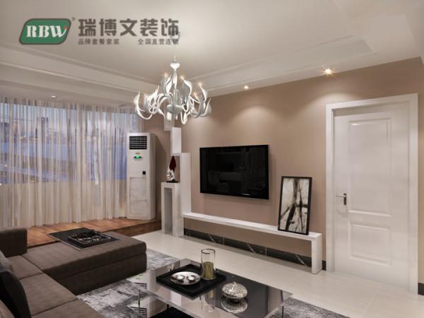 电视墙简单有型,颜色沉稳大气。