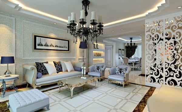 本案的设计风格为欧式风格,业主为中年男士,事业成功,家庭和睦,对设计上的要体现是大气风范和高雅美观,并且时尚。