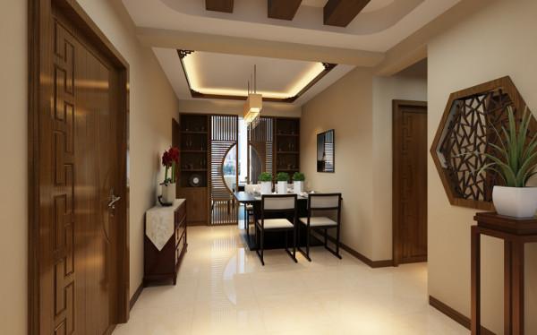 别出心裁的餐厅 设计理念:入户门厅紧靠着餐厅,餐厅的整体风格则与客厅相互呼应,在此处运动了装饰柜和木质屏风作为书房和餐厅之间的分割,虚中有实,别具一格。