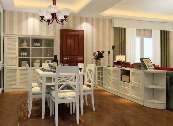 矮柜紧靠沙发,巧妙地隔断了空间,还增加了收纳功能。