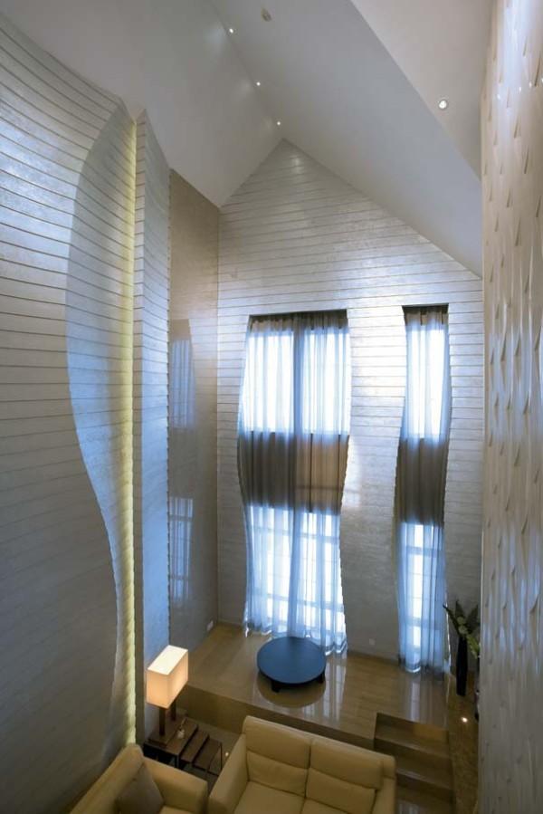 完美的弧线体现出客厅独特的美感