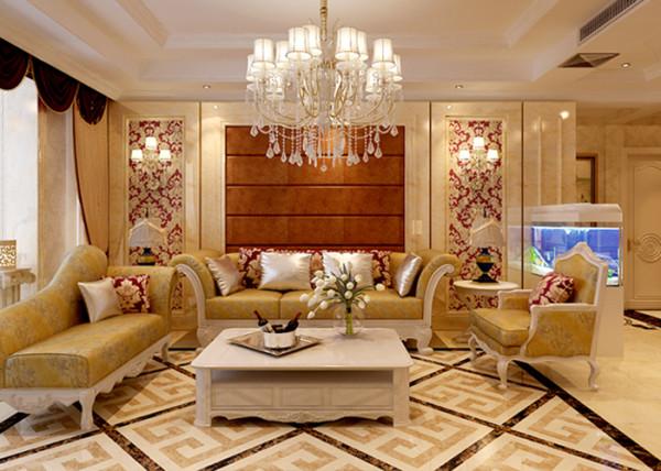 石家庄业之峰装饰-阿尔卡迪亚152平米欧式风格装修效果图