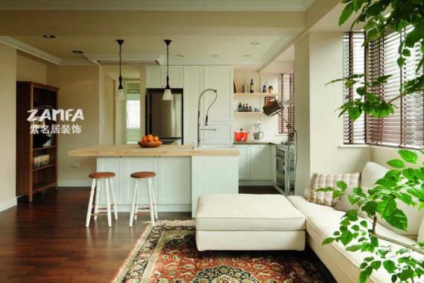 开放式的厨房是的空间更通透