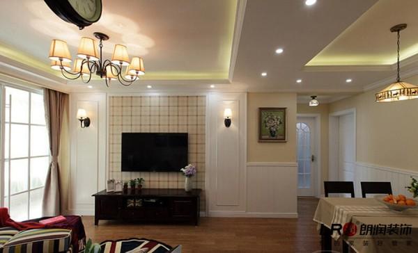 客厅电视墙造型,简单自然!