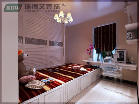 这是孩子的卧室,衣柜与床的相结合。