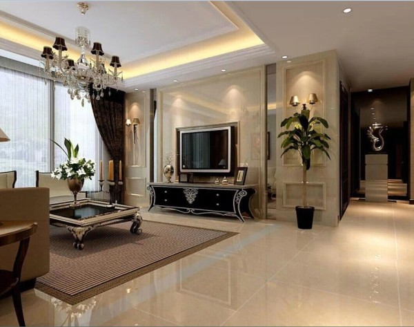客厅 :客厅的设计延续了一贯简约而典雅的风格,完美的诠释了高雅的贵族感,古典中透着时尚,充分体现主人华贵的生活方式。