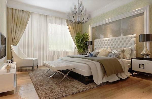 主卧 :一个温馨舒适的卧室才能让疲惫的心灵得到很好的休憩,简约的线条中蕴含着时尚的魅力,素雅清新的色彩诠释出生活的真......