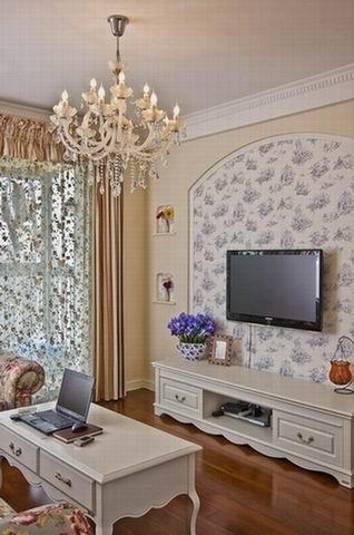 客厅里的电视背景墙
