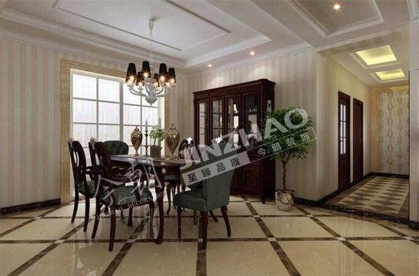【设计说明】:在家具选配上,采用宽大精美的家具,配以精致的雕刻,整体营造出一种华丽、高贵、温馨的感觉。