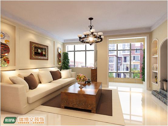 美中不足就是客厅的开间稍大了一些,不需进行中间家具的配饰,才能整体达到平衡的效果。