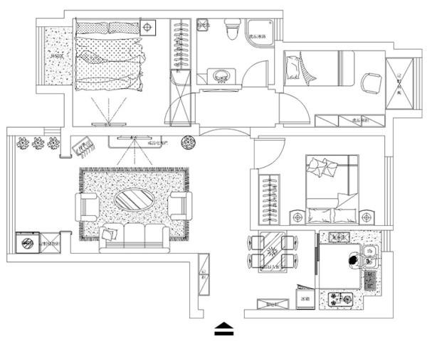 升龙又一城89平方三室两厅户型图