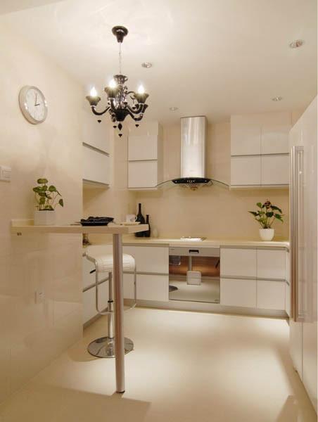 当代MOMA二居室户型厨房实景图