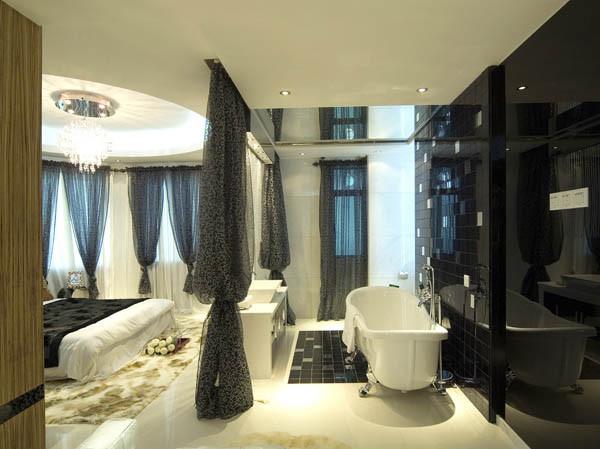 园博府140平米户型卧室实景图