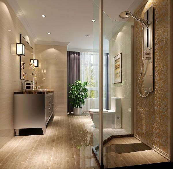 卫生间细节图 成都高度国际别墅装修设计