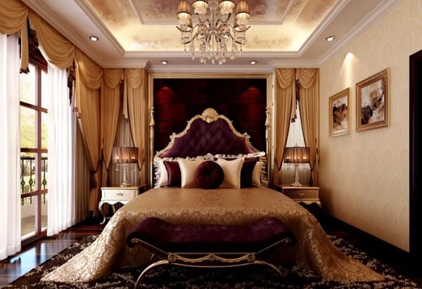 主卧空间同样以功用性为主,较少的别墅装饰品使得设计师在布艺上精益求精。设计师为业主选择了丝绸作为窗帘,垂感十足仿佛水波荡漾,让业主忍不住亲近。
