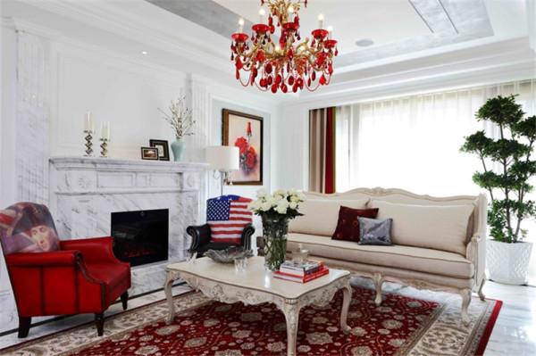 现代美式风格-客厅