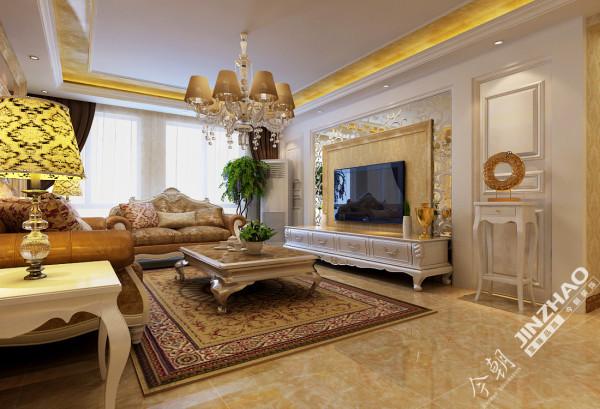 电视墙及沙发墙通过艺术玻璃与混油材质的结合交相呼,于温馨中呈现出一丝奢华,大气中流淌着宁静与祥和。