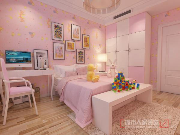 儿童房的组合儿童家具给孩子带来无限趣味性。