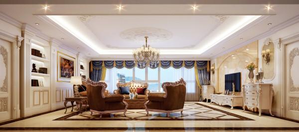 北京别墅装修——欧式风格——客厅