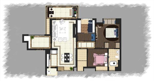 平面家具布置彩图