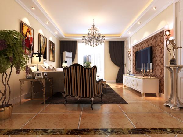欧式的电视墙,搭配高档的欧式家具,高端大气上档次。
