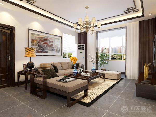 新中式风格更多的利用了后现代手法,把传统的结构形式通过重新设计组合以另一种民族特色的标志符号出现。例如,厅里摆一套明清式的红木家具,墙上挂一幅中国山水画等。