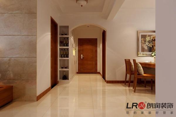 客厅入户细节,特别强调一下侧面的酒柜设计,眼前一亮的感觉!