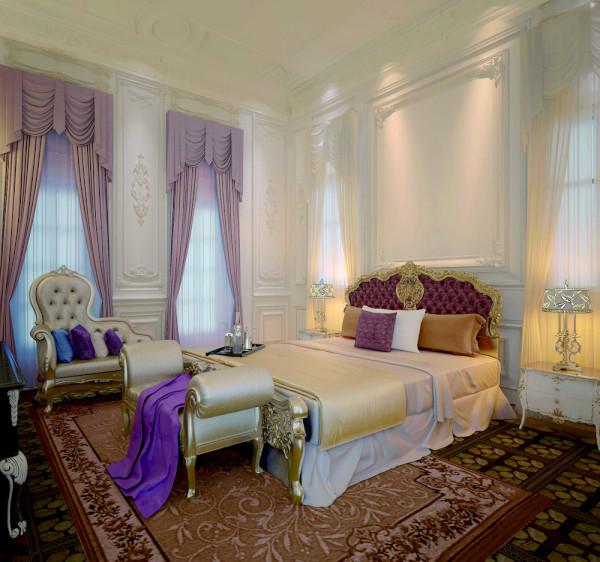 远洋·LA VIE欧式风格独栋别墅卧室装修效果图