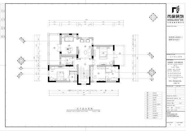保利西山林语新中式风格独栋别墅地下室平面布置图