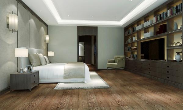 首创·国际半岛现代风格独栋别墅卧室装修效果图