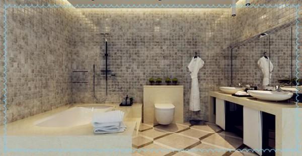 高雅简洁的卫生间设计,也是主人高品质生活的体现!