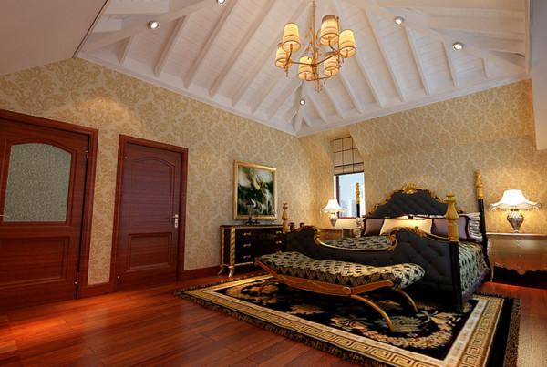 设计理念:作为业主自己使用,卧室既不能太过鲜艳又走失欧式的风格,同时还要凸显客户这种成功人士的稳重气质。