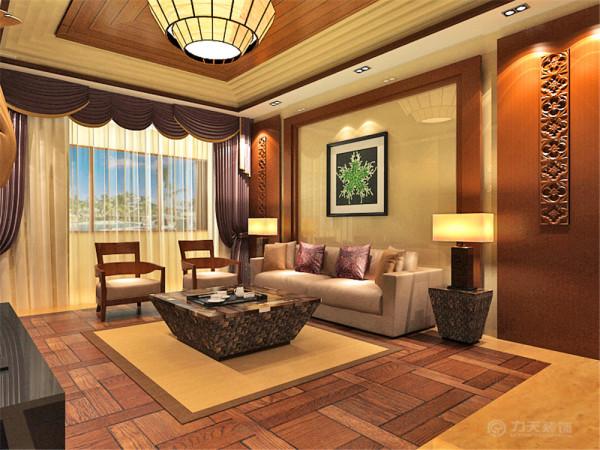 该户型我设计的的是新中式其特点是以宫廷建筑为代表的中国古典建筑的室内装饰设计风格。气势恢弘、壮丽华贵、高空间、大进深、雕梁画栋、金碧辉煌,造型讲究对称,色彩讲究。