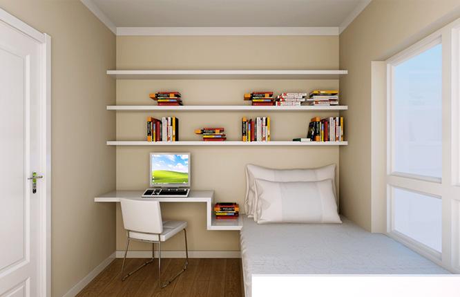 小卧室格局,多功能,儿童房,书房,客房,都行.图片