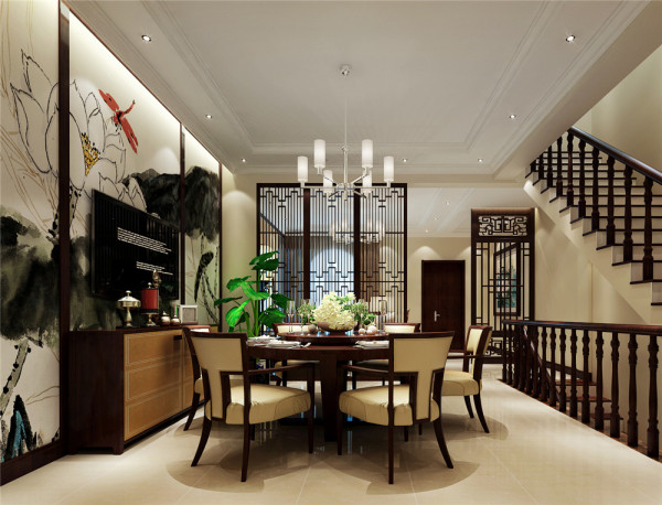 家具的造型简朴厚重,布局对称雅致,使整体空间更加稳重大气,在装饰细节上崇尚自然情趣,富于变化,给人一种浑然之气,格调高雅。天然与淳朴是中式设计风格魅力所在。