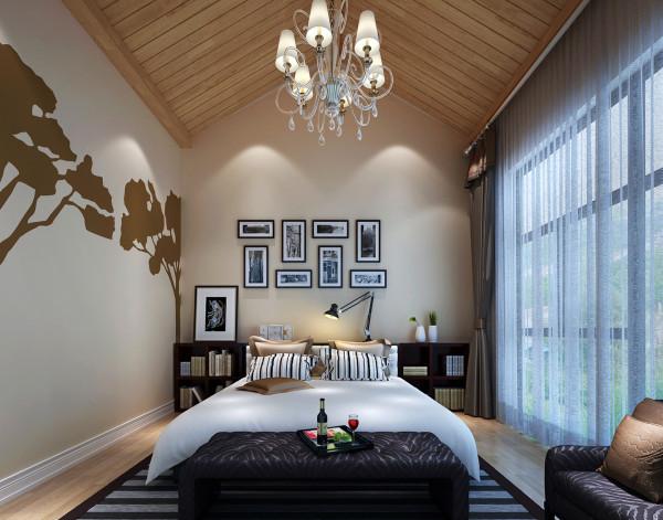 主卧室又是一个轻松舒适,开阔明亮时尚的休息空间。设计理念:开阔的空间给了设计师大量的发挥空间。根据此空间的特点:连接室外露台,开阔明亮,大气自然。