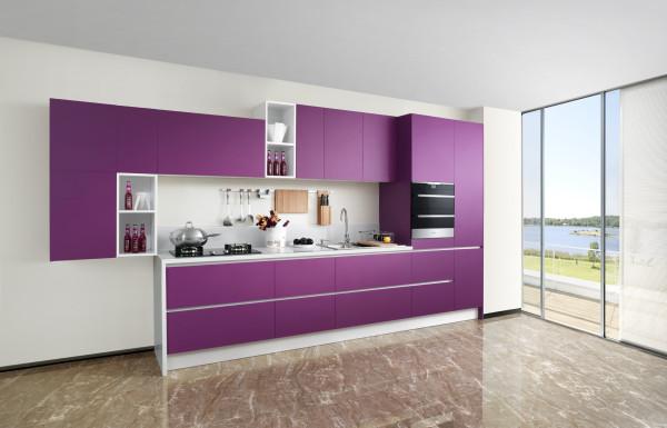 浪漫系列  普罗旺斯 Provence  门板材质:亚光烤漆  台面材质:石英石  装修风格:现代风格
