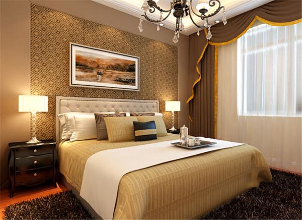 豪华卧室复古韵律,沿袭着客厅的优雅和色调,生活的美生活的情趣尽在其中。 亮点:汇合了现代的装饰手法,运用新材料超常规的组合和灯光的渲染,塑造出奇异、梦幻的休息空间。