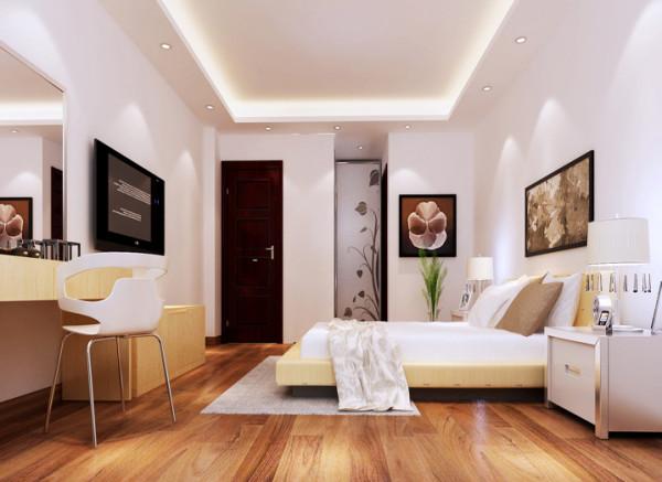 设计理念:跟随轻装修重装饰的时代,并没有张扬复杂的设计,简简单单,温馨舒适是卧室的根本。