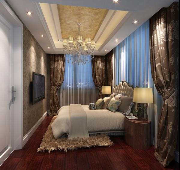 华贸城三居室新古典风格卧室效果图展示