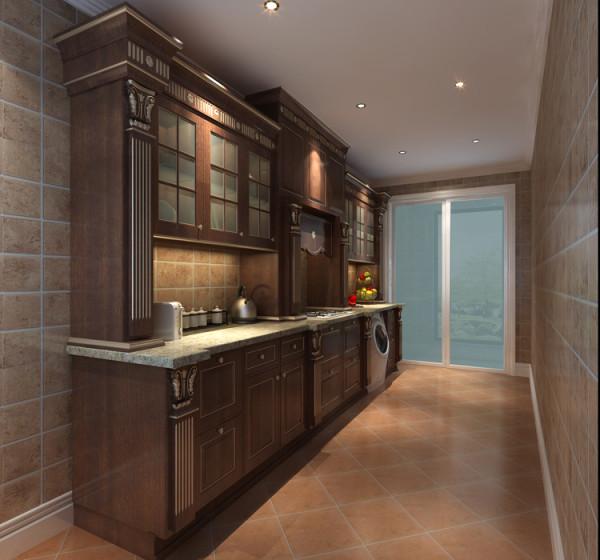 华贸城三居室新古典风格厨房效果图展示