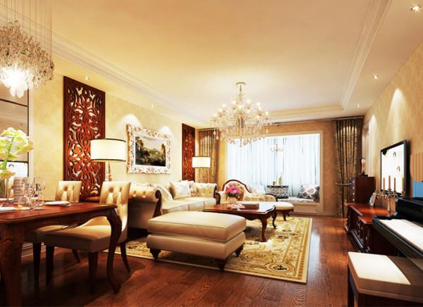 设计理念:整体颜色搭配和谐统一,而又温馨不失品位。搭配上时尚的照片墙和配饰品。完美的打造了一个温馨舒适的用餐空间。 亮点:颜色搭配协调一致,色调温馨舒适。灯光效果温暖舒适。