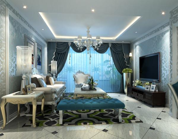 城建琨廷二居室106平户型客厅效果图