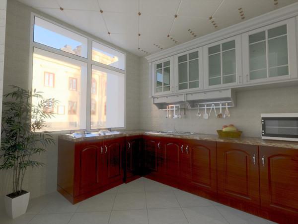 华贸城128平二居室厨房效果图展示